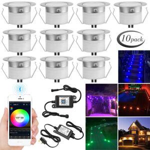 1-30X WIFI Bluetooth 45mm RGB/RGBW LED Deck Lights Garden Yard Lighting Lamp