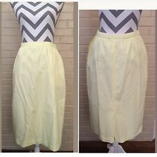 Givenchy Sport Vintage Sandra Dee Yellow Wrap Skirt Size 10 Pencil Skirt 50s