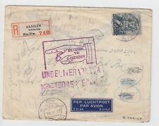WW2 Registered Haarlem to US Soldiers APO France, Redirected & Returned Sender