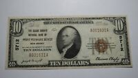 $10 1929 Point Pleasant Beach New Jersey NJ National Currency Bank Note Bill Pt.