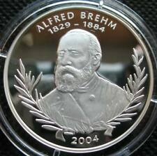 Benin 1000 Francs 2004 Sliver Proof Coin 120th Anniversary Alfred Brehm