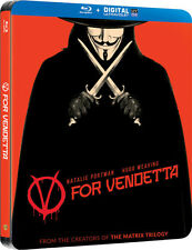 V FOR VENDETTA (Hugo Weaving) Blu-ray Disc, Steelbook UK NEU+OVP V wie Vendetta
