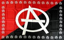 """Bandiera """"A"""" ANARCHIA Flag Nuova colori Rosso e Nero 140x90 Polyester NEW"""