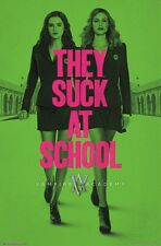 VAMPIRE ACADEMY MOVIE POSTER ~ THEY SUCK AT SCHOOL 22x34 Zoey Dutch Lucy Fry
