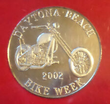 2002 Bike Week coin Daytona Beach motorcycle rally biker collectible token medal