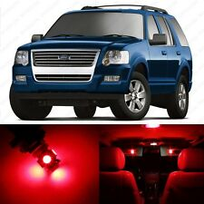 13 x Red LED Interior Light Package For 2002 - 2010 Ford Explorer + PRY TOOL