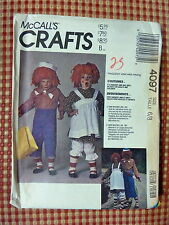 McCALLS 4097 - RAGGEDY ANN & ANDY COSTUMES - CHILD 6/8 - UNCUT