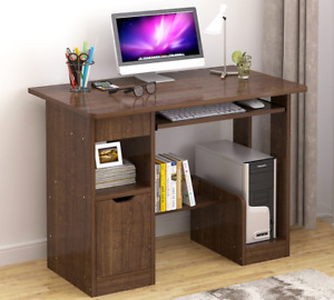 100cm Small Computer Desk PC Table Office Work Writing Kids Study Drawer Door