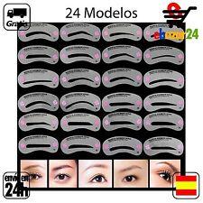 24x Plantillas Delineacion Cejas Ceja Plantilla dibujo maquillaje maquillar *Env