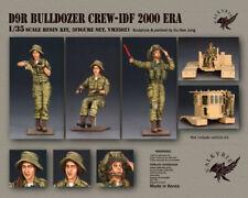 Valkyrie 1/35 Escala Kit de modelo de resina D9R Bulldozer Redondo IDF 2000 era (3 figuras