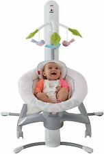 Fisher Price Swing 4-in-1 Smart Connect Singing Cradle 'n Swing - Pink Shadow