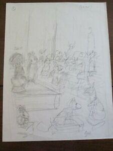 Garth Williams original pencil sketch for Miss Bianca, initials - loose, sweet