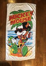 Vintage Mickey Mouse with Camera & Radio Beach Towel Franco