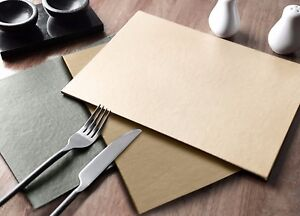 Modern Plain Dining Table Kitchen Coaster Set of 4 Cream Silver