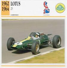 1962-1964 LOTUS 25 Racing Classic Car Photo/Info Maxi Card