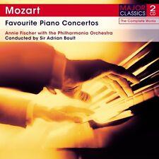 2 CD MOZART FAVOURITE PIANO CONCERTOS 20 K466 21 K467 22 K482 23 K488 FISCHER