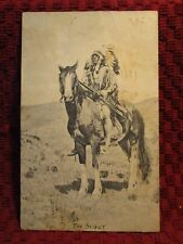 "1913. ""THE SCOUT"" INDIAN. POSTCARD D1"