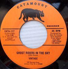 VINTAGE acappella doowop CATAMOUNT 45 GHOST RIDERS IN THE SKY HARBOR LIGHTS FM33
