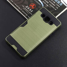ShockProof Brushed Card Pocket Hard Case Cover for Samsung Galaxy A5 A7 A510 A3