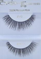 12 Pairs Creme Eyelashes 100% Human Hair Eyelashes #82