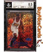 1997-98 Allen Iverson Flair Showcase Legacy Collection Row 1 /100 BGS 8.5