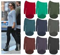 Womens Loose Knitted Batwing Sleeve Jumper Sweater Ladies Casual Knitwear Tops