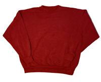 VTG 90s Tultex Plain Blank USA Made Red Crewneck Sweatshirt Pullover XL Retro