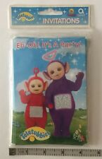 Unsealed Pack of Six Teletubbies Party Invitations Cards with Six Envelopes 1998