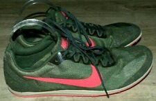 New Men's Size 13 NIKE Zoom Rival D Green Camo Mesh Pink Spike Track Field Shoes