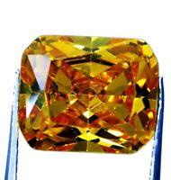 9.65 ct Natural Precious Emerald Cut Cambodian Yellow Zircon Loose Gemstone