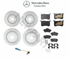For Mercedes X117 X156 CLA45 AMG Set of 2 Front & Rear Brake Disc & Pads
