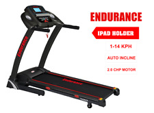 FREE POSTAGE NEW Trainer Treadmill Endurance Auto Incline  2.0 HP