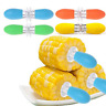10PCS Stainless Steel Corn On The Cob Skewers Sweetcorn Holder BBQ Prongs Tools