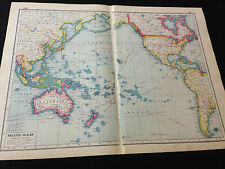 "Harmsworth New Atlas Of The World ""Pacific Ocean"""