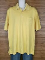 Eddie Bauer Yellow Short Sleeve Polo Shirt Mens Size Large Tall LT EUC
