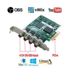 PCI-e4s Quad SDI input live streaming 1080P/60 game webcaster video capture card