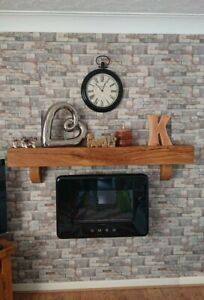 SOLID OAK MANTEL BEAM & CORBELS MANTELPIECE Wood Lintel Log Burner Mantle Shelf