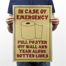 retro toilet decorative bar funny poster toilet decorative painting wall In CA
