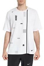 Nwt Nike Flex Dry Training T-Shirt, White/Black, Small, Msrp $65