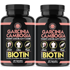 Garcinia Cambogia with Biotin, Weight Loss Beauty Combo 2-Pack