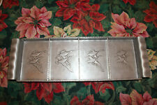 Vintage 1940's/50's Arthur Armour Hammered Heavy Aluminum Sectioned Tray Geese