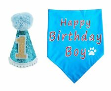 PET SHOW Dogs 1st Birthday Hats And Bandanas Set Cats 1-year-old Photo Props