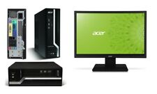 """ACER VERITON X2611G COMPLETE PC i3/4GB/500GB/DVDRW/WIN10 + 22"""" MONITOR+K/B MOUSE"""