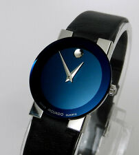 Womens Authentic Swiss MOVADO Vintage Retro Sapphire Safiro Stainless, Blue Dial