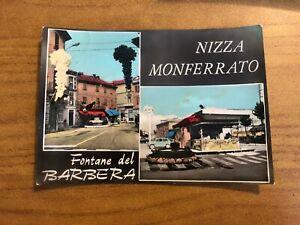 Card Nizza Monferrato Fountains Of Barbera Viaggiata 1962 55