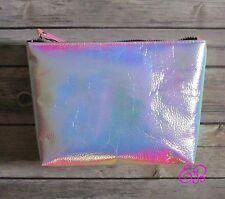 PS... Holographic Iridescent Cosmetic Bag Make Up Bag Travel Make up Bag