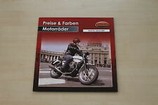 167619) Moto Guzzi - Modellprogramm Preise & Farben - Prospekt 01/2009