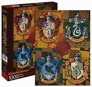 1000 piece HARRY POTTER HOGWARTS CRESTS Puzzle Licensed J K Rowling by AQUARIUS
