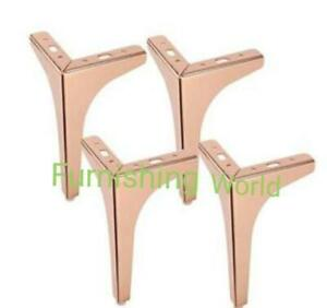 4 x replacement strong LEGS / FEET for uk FURNITURE sofas, stools, table, bed