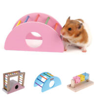 Hamster Mouse Rat Toy Wooden Ladder Rainbow Play Bridge Exercise Toys